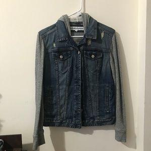 Express Hooded Denim Jacket - M